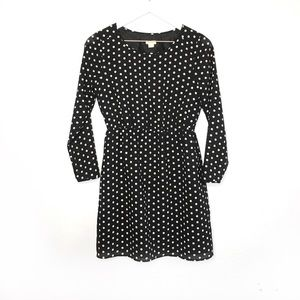 J. Crew | Polka Dot Long Sleeve Dress